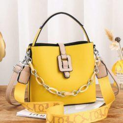 JT6001-yellow Tas Selempang Rantai Wanita Cantik Terbaru Import