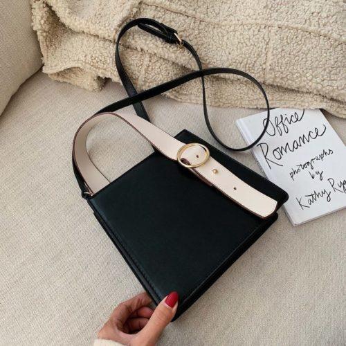 JT6006-black Tas Selempang Fashion Wanita Impor Kekinian