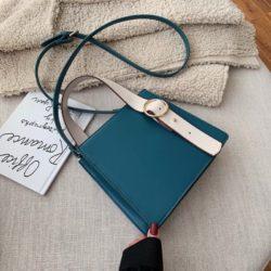 JT6006-blue Tas Selempang Fashion Wanita Impor Kekinian