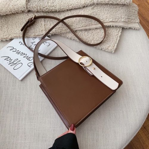 JT6006-brown Tas Selempang Fashion Wanita Impor Kekinian