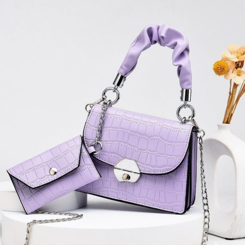 JT60201 (2IN1) IDR.170.000 MATERIAL PU SIZE L19XH14XW8CM, SMALL BAG 12X7CM WEIGHT 550GR COLOR PURPLE