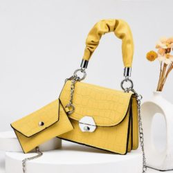 JT60201 (2IN1) IDR.170.000 MATERIAL PU SIZE L19XH14XW8CM, SMALL BAG 12X7CM WEIGHT 550GR COLOR YELLOW