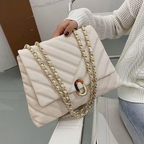 JT6024-beige Tas Selempang Fashion Wanita Elegan Import
