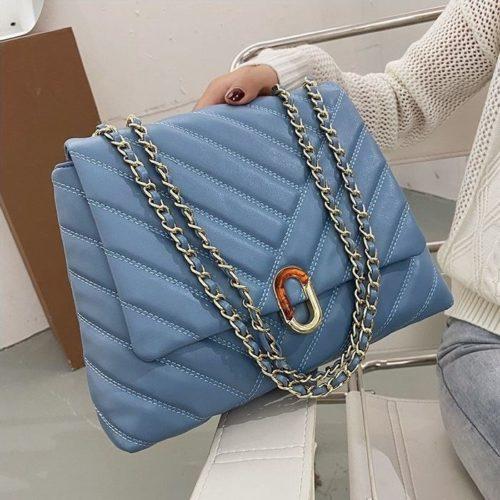 JT6024-blue Tas Selempang Fashion Wanita Elegan Import