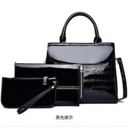 JT6053-black Tas Handbag Wanita Elegan Set 3in1