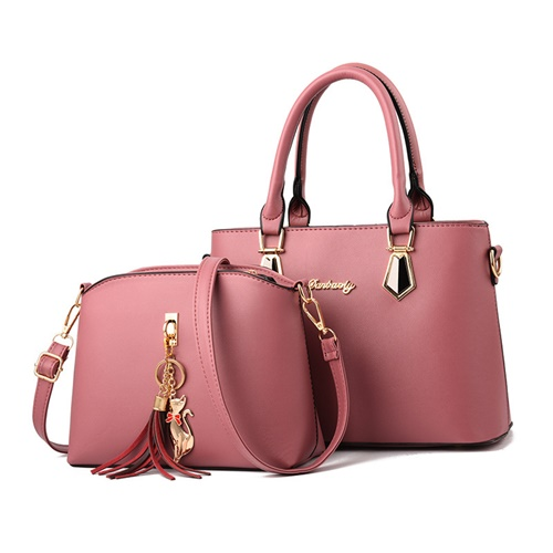 JT60751 (2IN1) IDR.175.000 MATERIAL PU SIZE L30.5XH21.5XW13CM WEIGHT 800GR COLOR DARKPINK