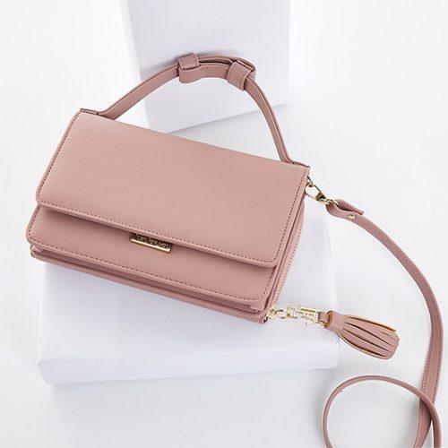 JT608-darkpink Tas Handbag Import Wanita Terbaru