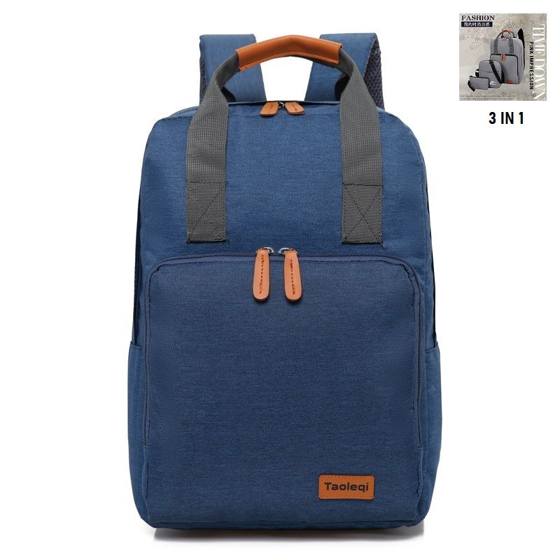 JT609 (3IN1) IDR.165.000 MATERIAL OXFORD SIZE L29XH40XW12CM WEIGHT 550GR COLOR BLUE