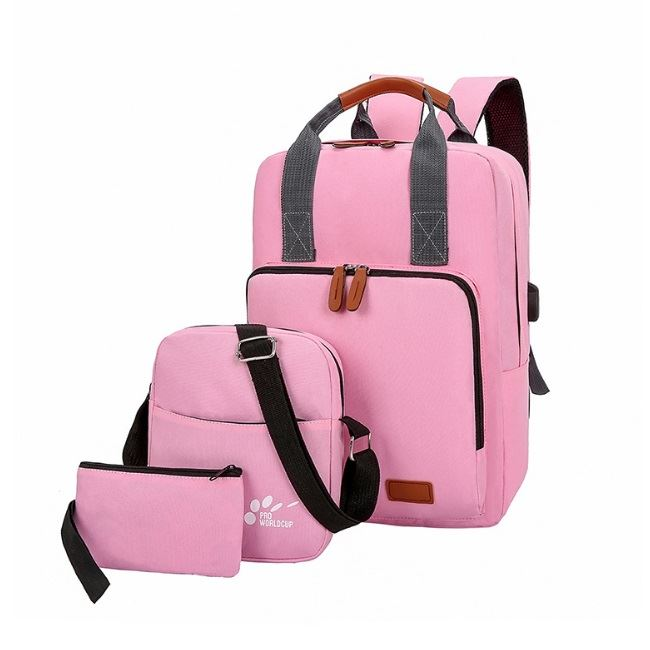 JT609 (3IN1) IDR.165.000 MATERIAL OXFORD SIZE L29XH40XW12CM WEIGHT 550GR COLOR PINK