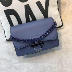 JT61012-blue Tas Import Elegan Tali Selempang Rantai
