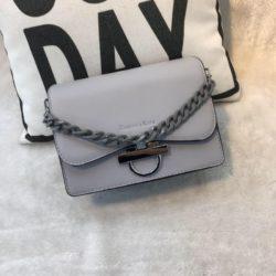 JT61012-gray Tas Import Elegan Tali Selempang Rantai