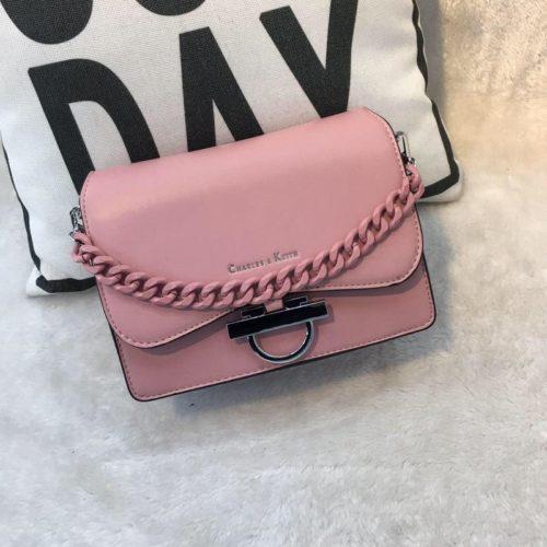 JT61012-pink Tas Import Elegan Tali Selempang Rantai