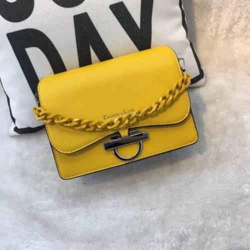 JT61012-yellow Tas Import Elegan Tali Selempang Rantai