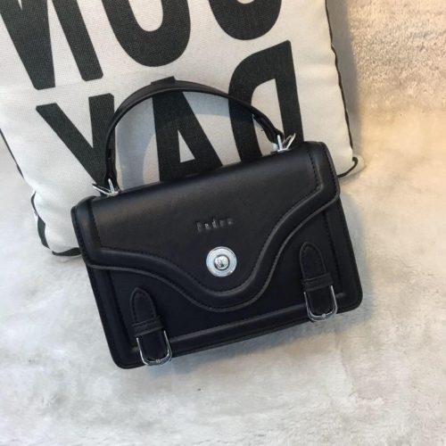JT61205-black Tas Handbag Wanita Elegan Import Tali Selempang