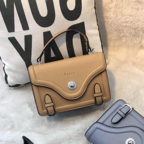 JT61205-khaki Tas Handbag Wanita Elegan Import Tali Selempang