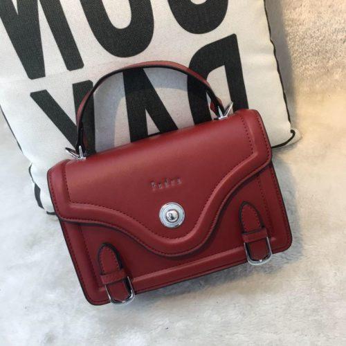 JT61205-red Tas Handbag Wanita Elegan Import Tali Selempang
