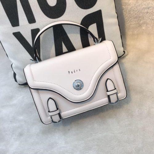 JT61205-white Tas Handbag Wanita Elegan Import Tali Selempang