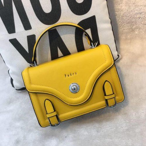 JT61205-yellow Tas Handbag Wanita Elegan Import Tali Selempang