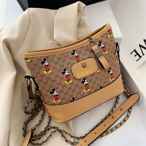 JT6137-khaki Tas Selempang Mickey Wanita Cantik Import