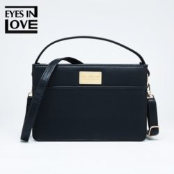 JT614-black Tas Selempang Fashion Import Cantik