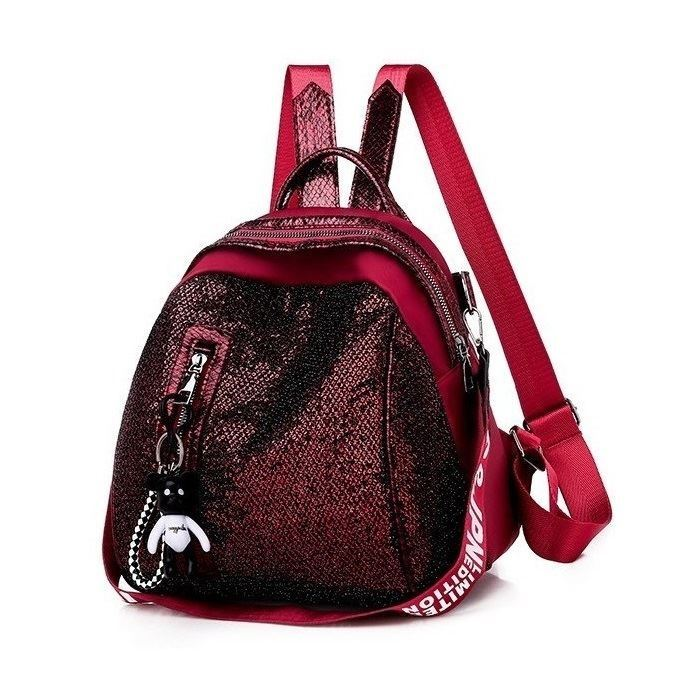 JT6144 IDR.142.000 MATERIAL SEQUIN SIZE L26XH26XW19CM WEIGHT 500GR COLOR RED