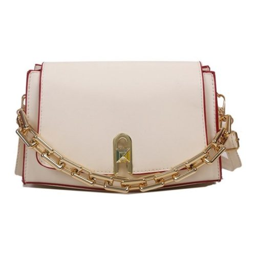 JT6150-beige Tas Selempang Model Chain Wanita Cantik Import