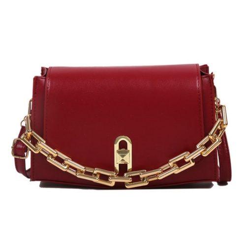 JT6150-red Tas Selempang Model Chain Wanita Cantik Import
