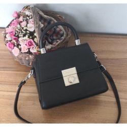 JT61712-black Tas Selempang Handbag Import Wanita Elegan