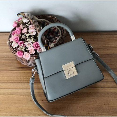 JT61712-gray Tas Selempang Handbag Import Wanita Elegan