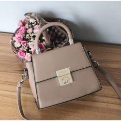 JT61712-khaki Tas Selempang Handbag Import Wanita Elegan