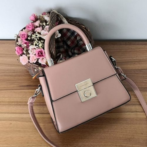 JT61712-pink Tas Selempang Handbag Import Wanita Elegan