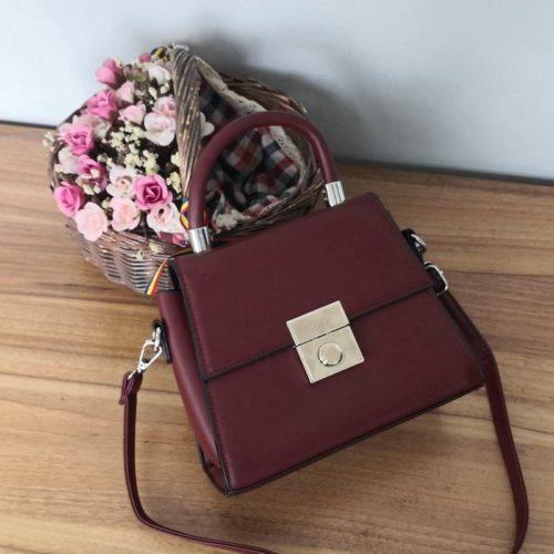 JT61712-red Tas Selempang Handbag Import Wanita Elegan