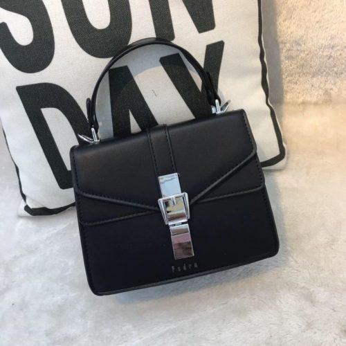JT62034-black Tas Handbag Selempang Import Wanita Cantik