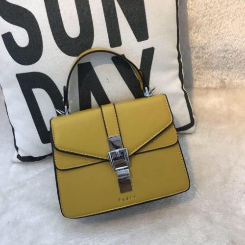 JT62034-yellow Tas Handbag Selempang Import Wanita Cantik
