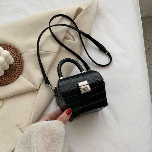 JT62153-black Tas Selempang Kosmetik Wanita Cantik (Ada Cermin)