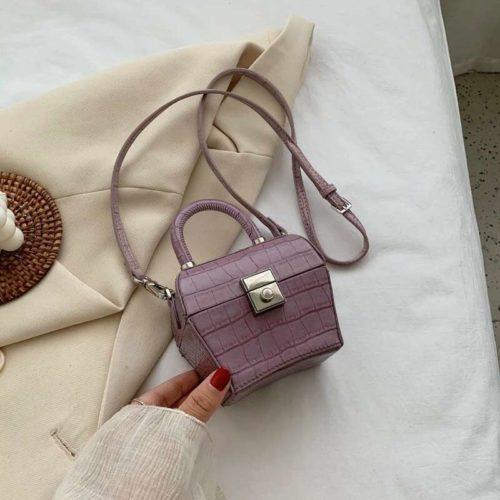 JT62153-purple Tas Selempang Kosmetik Wanita Cantik (Ada Cermin)