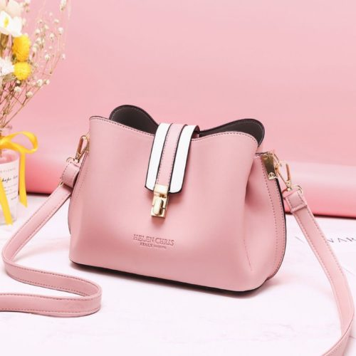 JT62346-pink Tas Selempang Wanita Modis Import Terbaru
