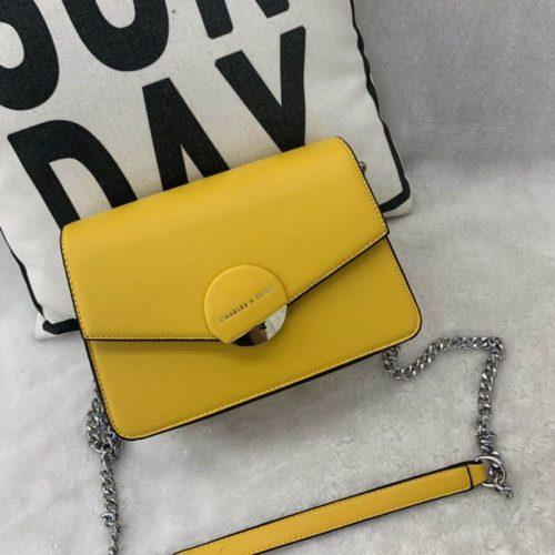 JT62637-yellow Tas Selempang Terbaru Wanita Cantik Elegan