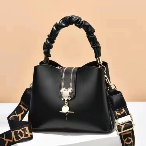 JT62871-black Tas Handbag Selempang Wanita Elegan Import Terbaru
