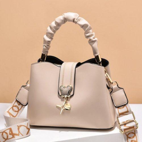 JT62871-lightkhaki Tas Handbag Selempang Wanita Elegan Import Terbaru