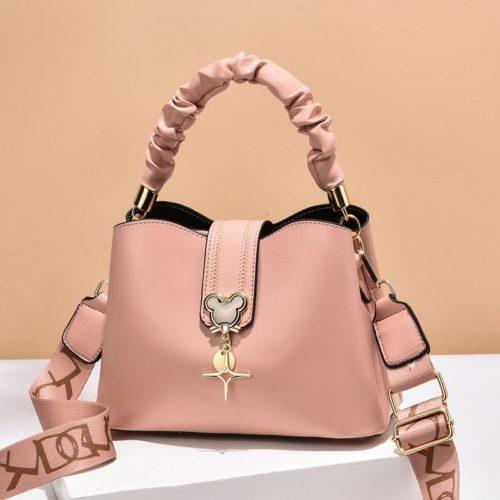 JT62871-pink Tas Handbag Selempang Wanita Elegan Import Terbaru