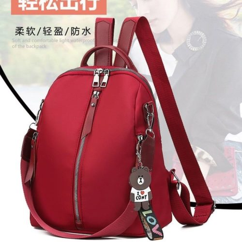 JT635-red Tas Ransel Love Cony Wanita Cantik Import