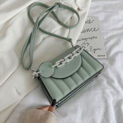 JT6494-green Tas Selempang Fashion Wanita Elegan Import