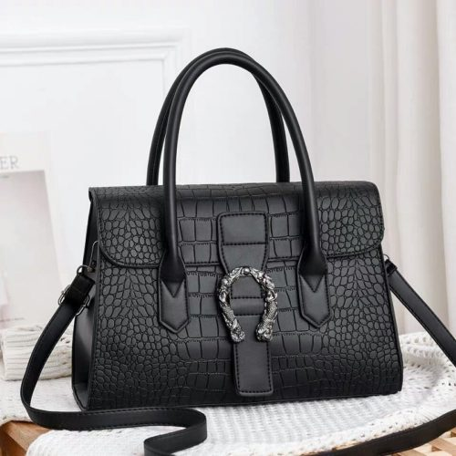 JT6602-black Tas Handbag Wanita Cantik Elegan Import
