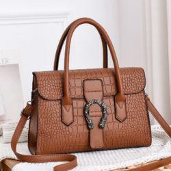 JT6602-darkbrown Tas Handbag Wanita Cantik Elegan Import