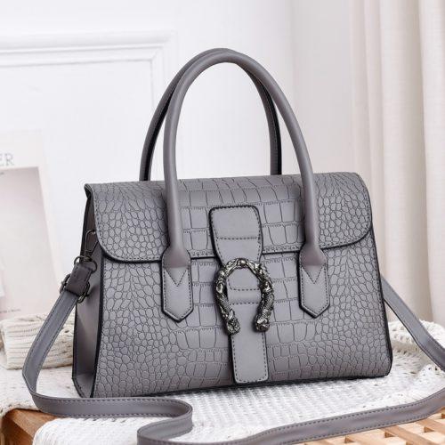 JT6602-gray Tas Handbag Wanita Cantik Elegan Import