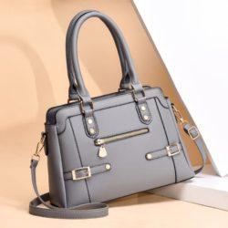 JT6603-gray Tas handbag Pesta Wanita Elegan