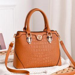 JT6612-brown Hand Bag Selempang Wanita Cantik Elegan