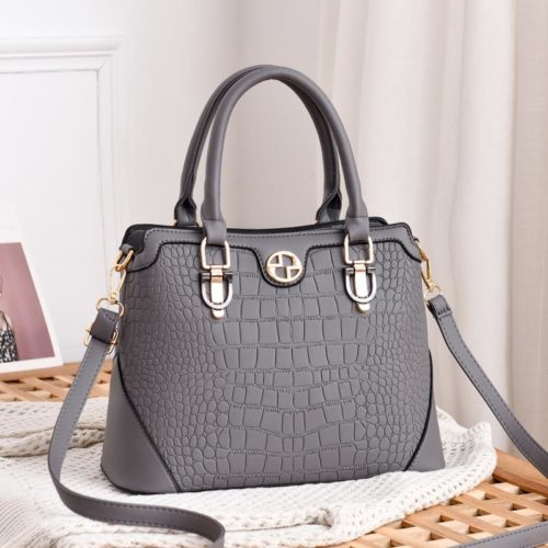 JT6612-gray Hand Bag Selempang Wanita Cantik Elegan