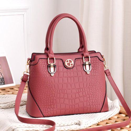 JT6612-pink Hand Bag Selempang Wanita Cantik Elegan